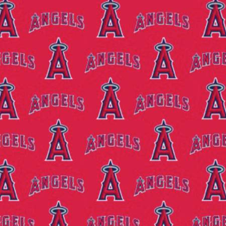 Los Angeles Angels Fabric by the Yard, Half Yard, MLB Cotton Fabric