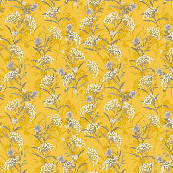 Marguerite, Button Flower, Fabric by the Yard, by the Half Yard, Goldenrod, Yellow