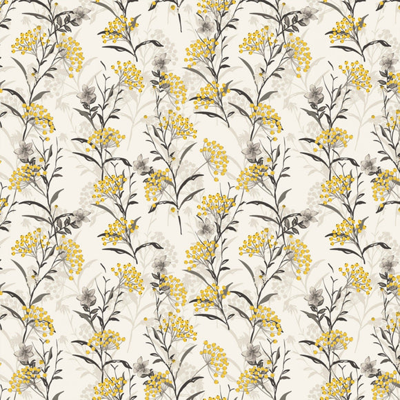 Marguerite, Button Flower, Fabric by the Yard, by the Half Yard, Vanilla