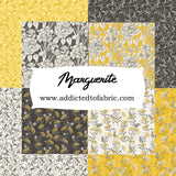 Marguerite, Scroll, Fabric by the Yard, by the Half Yard, Goldenrod, Yellow