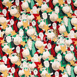 Santa Claus by Marjorie Smith Steel, Christmas Fabric by the Yard, by the Half Yard