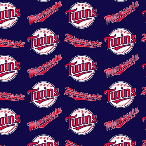 Minnesota Twins Fabric by the Yard, by the Half Yard, MLB Cotton