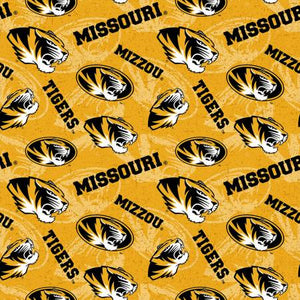 University of Missouri Tigers Fabric by the Yard or Half Yard, Mizzou, Licensed NCAA