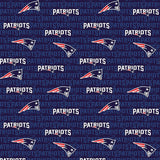 New England Patriots Fabric by the Yard or Half Yard, Mini Print, NFL Cotton Fabric