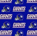 New York Giants Fabric by the Yard or Half Yard, NFL Cotton Fabric