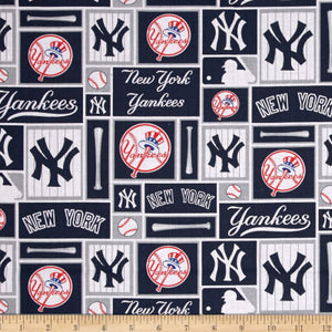 New York Yankees Fabric by the Yard or Half Yard,  MLB, Cotton Fabric