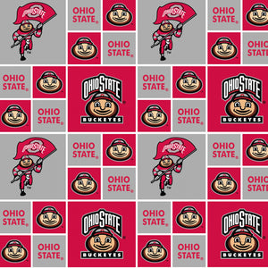 Ohio State Buckeyes Fabric by the 1/4, 1/2 or Yard(s)