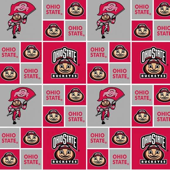 Ohio State Buckeyes Fabric by the Yard or by Half Yard