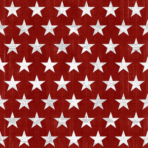 "Live Free Patriotic Fabric by the Yard and Half Yard, 1"" Stars on Red"