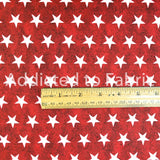 Stars on Red, American Spirit, Fabric by the  Half Yard, Patriotic