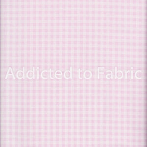 "Gingham 1/8"", Fabric by the Yard, Half Yard, Fabric Traditions, Pink, Santee Collection"