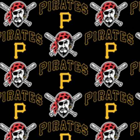 Pittsburgh Pirates Fabric by the Yard or Half Yard, MLB Fabric, Cotton