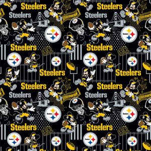 Pittsburgh Steelers, Disney Mickey Mouse Fabric by 1/4, 1/2 or Continuous Yard(s)