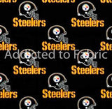 Pittsburgh Steelers Fabric by the Yard, by the Half Yard, NFL Cotton Fabric, Black