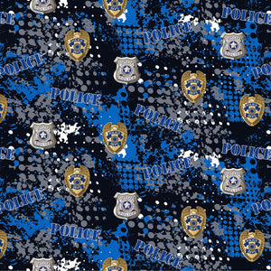 Police Fabric by the Yard and Half Yard, First Responders Fabric