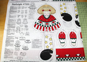 Starbright #7222 Daisy Kingdom Angel Doll, Fabric Panel, Cut and Sew Fabric