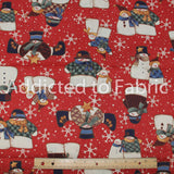 Kringle Collection by Susan Jill Hall, Christmas Fabric by the Yard, Snowmen