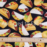 Tacos Allover Fabric by the Yard, Fabric by the Half Yard, Taco Tuesday, Mexican Food