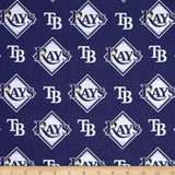 Tampa Bay Rays Fabric by the Yard or Half Yard, MLB, Cotton Fabric