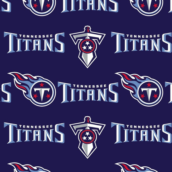 Tennessee Titans Fabric by the Yard or Half Yard, Licensed NFL Cotton Fabric