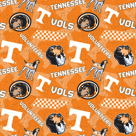 University of Tennessee Volunteers Fabric by the Yard and Half Yard, Cotton