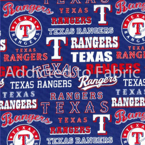 Texas Rangers Fabric by the Yard, by the Half Yard, MLB Cotton Fabric, 44""
