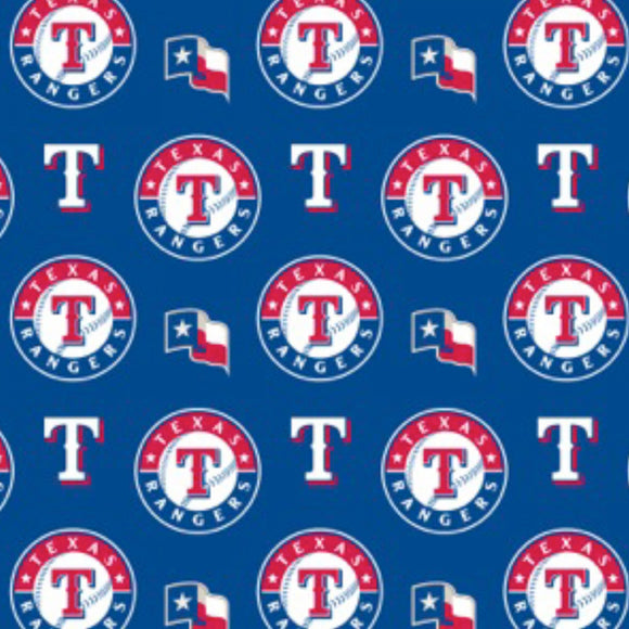 Texas Rangers Fabric by the Yard, by the Half Yard, MLB Cotton Fabric, Baseball, Sports