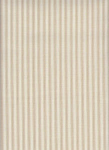 Farmhouse Harvest Ticking Crafting Fabric by the Yard, Half Yard, Cotton/Poly, Khaki