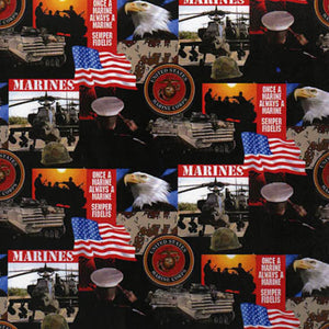 Military U. S. Marines Fabric by the Yard and Half Yard, Cotton