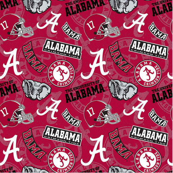 University of Alabama Crimson Tide, Fabric by the Yard or by the Half Yard, NCAA