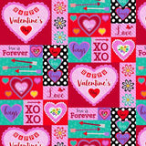Love is Forever, Studio E Valentine's Day Fabric by the yard and half yard, Patch