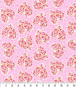 Valentine Fabric by the Yard, Half Yard, Hearts with Hearts with Hearts by Kathy Davis Studios