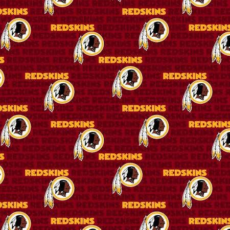 Washington Redskins Retro Fabric by 1/4, 1/2 or Continuous Yard(s), Mini Print