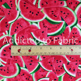 Packed Watermelon Fabric by the Yard or Half Yard, One in a Melon Collection