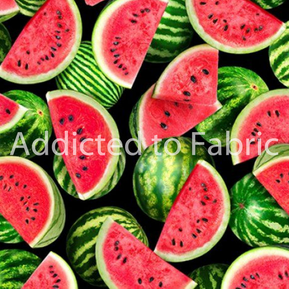Watermelon Fabric by the Yard or Half Yard, One in a Melon Collection