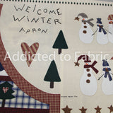 Welcome Winter Apron, Fabric by the yard, Balson Hercules Group