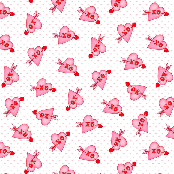 Henry Glass, Love Struck, Valentine Fabric by the Yard or Half Yard