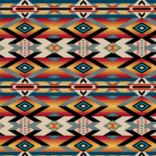 Pre-Order Wild Wild West Fabric by the Yard or Half Yard, Serape Blanket, Western