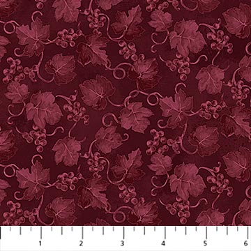 You Had Me at Wine Fabric by the Yard, Burgundy Grapevine Blend, Northcott