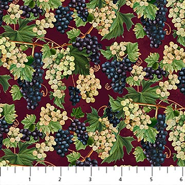 You Had Me at Wine Fabric by the Yard, Mini Grapevine Blend, Northcott