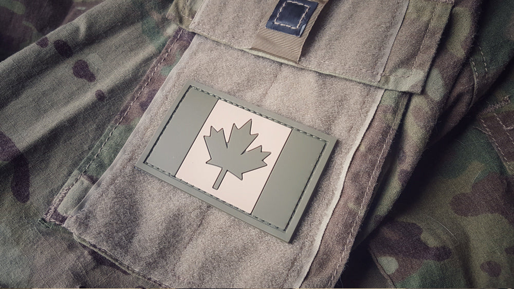 Canadian Flag Patch - PVC