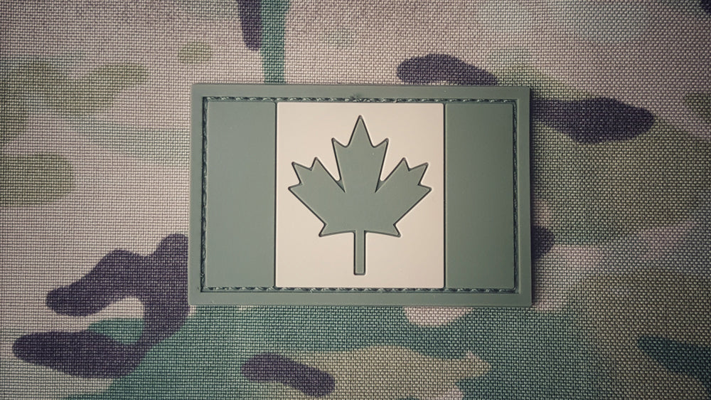Canadian Flag Patch - PVC - OD/TAN