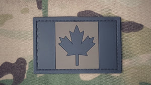 Canadian Flag Patch - PVC - BLACK/BROWN