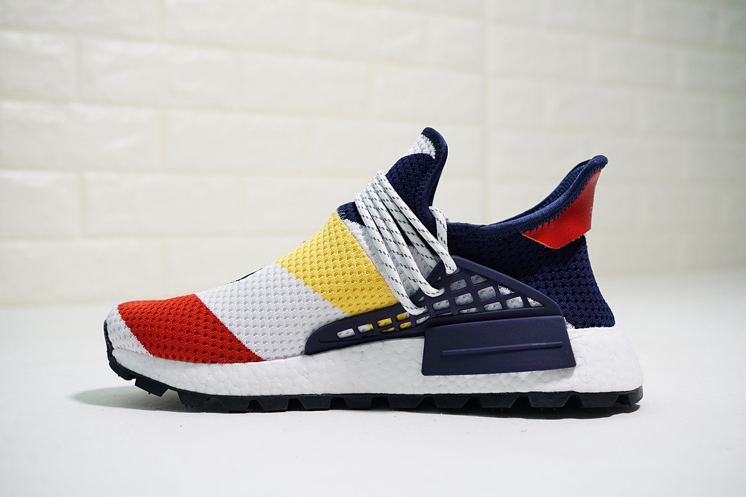 buy popular 4cfe6 1fbe0 BBC x Pharrell x adidas NMD Human Race Trail red white ...