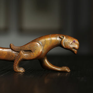 Vintage Style Bronze Tiger Pen Holder Home Decor - Ori Wisdom