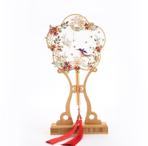 Exquisite Chinese Birds Palace Hand Fans Home Decor - Ori Wisdom