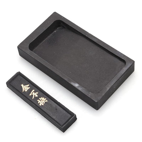 Premium Durable Inkstone Chinese Taditional Ink Stones Rectangle with Ink Stick for Chinese Calligraphy and Painting - Ori Wisdom
