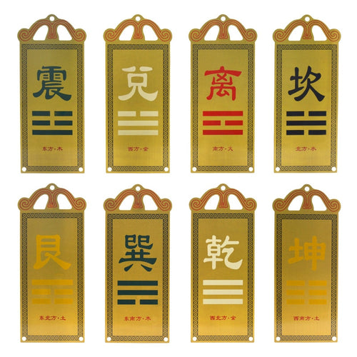 House Corner Fillet Pure Copper Plate Feng Shui Ornaments Pendant Card of The Eight Trigrams - Ori Wisdom
