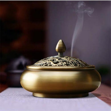 Pure Copper Household Indoor Incense Burner Indoor Household Coil Burner - Ori Wisdom