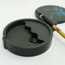 Chinese Calligraphy Inkstone 4 Inch Chinese Traditional Calligraphy Tool Ink Stone with Cover - Ori Wisdom